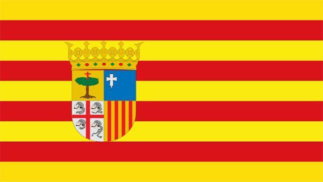 Bandera de Aragón estaciones ITV