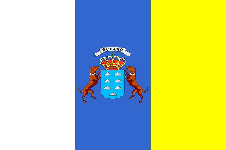 Bandera comunidad de las islas canarias